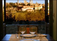 Ristorante della Locanda Viani a San Gimignano